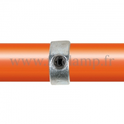 Tube clamp fitting 150 for tubular structures: Internal joint clamp. With double galvanized protection.