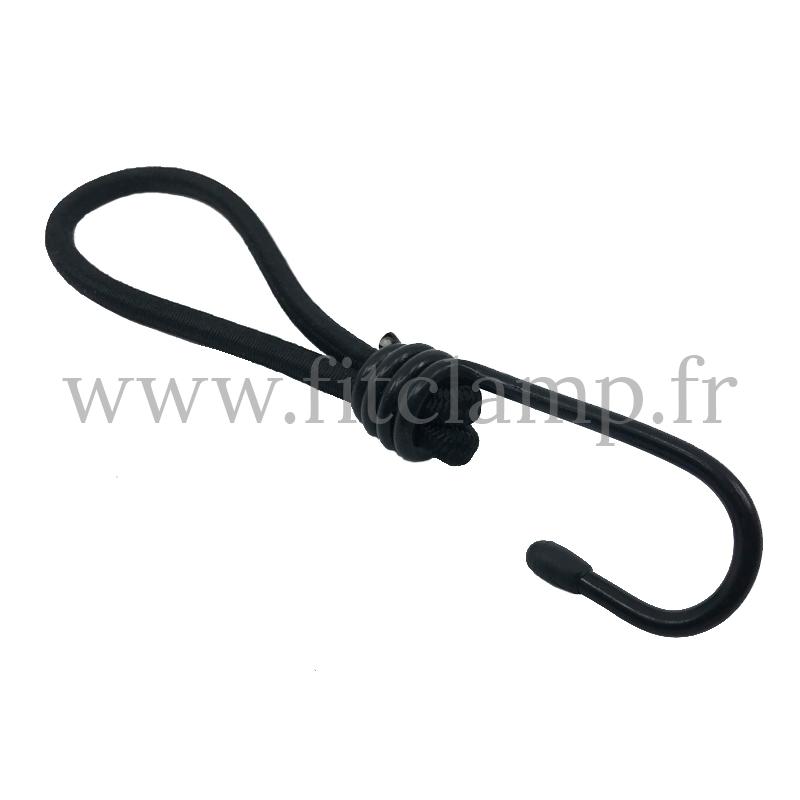 Tendeur boucle élastique avec crochet. Longueur 18 cm. FitClamp.