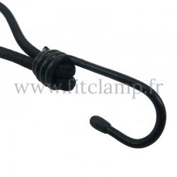 25 cm elastic tensioner with hook. Bungee cords