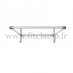 Pavement display frame for tension banner on aluminium tubular structure. Easy  to install.