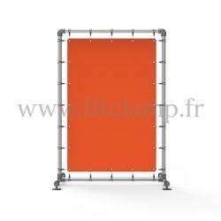 Cadre d'affichage - Stop trottoir avec bâche tendue - Piétement C-143 - bâche tendue