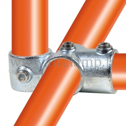 Tube clamp fitting 165 for tubular structures: Combination socket. Easy to install