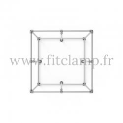 Cube d'affichage sur pied avec renfort