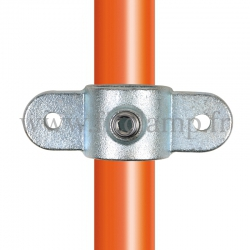 Tube clamp fitting 167M for tubular structures: Double male inline swivel. Easy to install.