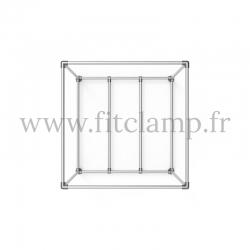 Cube d'affichage sur pied avec renfort base