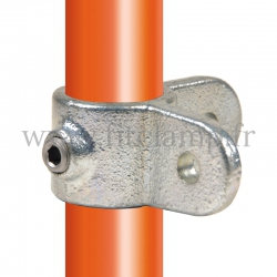 Tube clamp fitting 168M for tubular structures: male corner swivel 90°