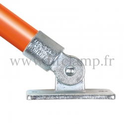 Tube clamp fitting 169  for tubular structures: Swivel base. Easy to install
