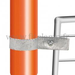 Raccord tubulaire Bague simple fixation grillage (170) pour un assemblage tubulaire. Double galvanisation