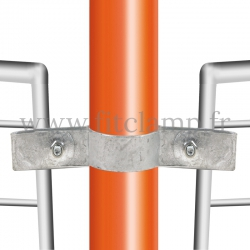 Tube clamp fitting 171: Double-sided mesh panel clip for tubular structures. Easy to install