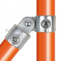 Tube clamp fitting 173: Single swivel for tubular structures. Easy to install