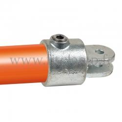 T court orientable - Partie femelle - Raccord tubulaire FitClamp. Double galvanisation