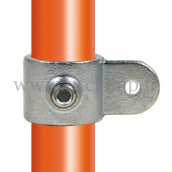 Tube clamp fitting 173M: Single male swivel for tubular structures. Easy to install