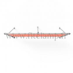 Cadre d'affichage fixe avec bâche tendue en structure tubulaire avec  renfort