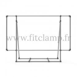 Cadre d'affichage XL sur pied - FitClamp