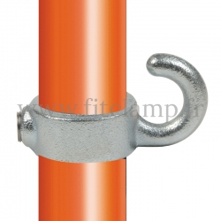 Tube clamp fitting 182: Hook clamp, compatible for use with single-tube tubular structures. Easy to install