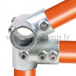Raccord tubulaire Charpente partie basse (185) pour un assemblage tubulaire. Double galvanisation