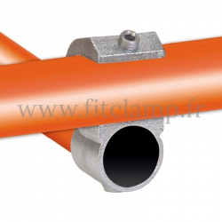 Tube clamp fitting 201: Guard hook for tubular structures. Suitable for joining 2 tubes