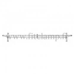 cadre d'affichage droit pour bâche tendue en structure tubulaire avec  renfort