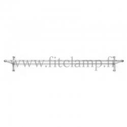 cadre d'affichage droit pour bâche tendue en structure tubulaire