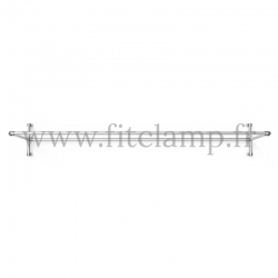 Upright display frame for tension banner on aluminium tubular structure. Easy to install. FitClamp.