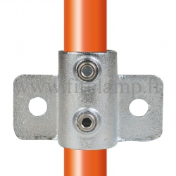 Tube clamp fitting 246 for tubular structures: Heavy-duty side palm. Suitable for joining 1 tube.