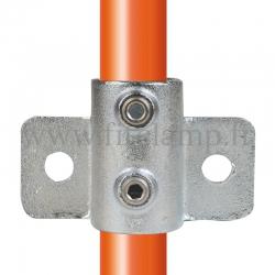 Raccord tubulaire Patte de fixation murale renforcé (246) pour un assemblage tubulaire. Double galvanisation