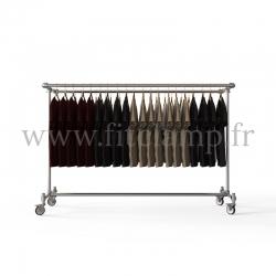 Porte-vêtements double largeur en structure tubulaire acier galvanisé. En situation 3. FitClamp