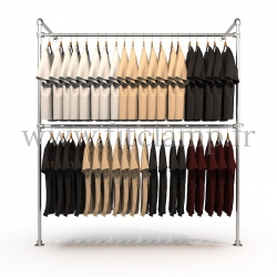 Tubular structure single wall-mounted clothes rail
