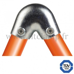 Raccord tubulaire Coude 40°-70° (123) pour une assemblage tubulaire