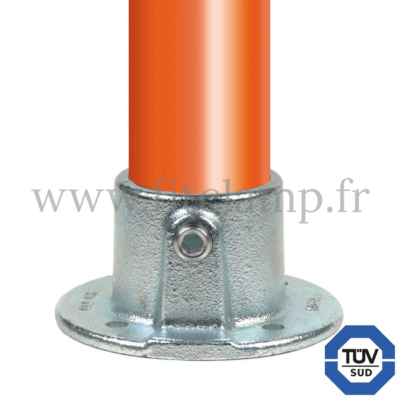 Conector tubular 131: Pletina de fijación para montaje tubular. FitClamp