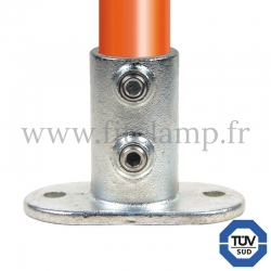 Tube clamp fitting 132: Railing base flange for tubular structures. FitClamp. Easy to install