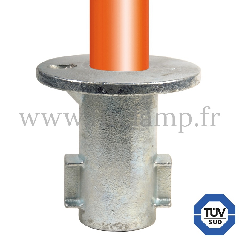 Conector tubular 134: Base empotrada para montaje tubular. FitClamp