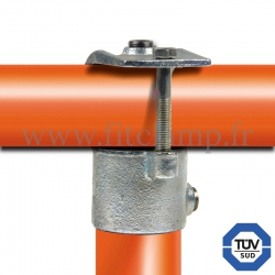 Tube clamp fitting 135 for tubular structures: Short clamp on tee, suitable for 2 tubes