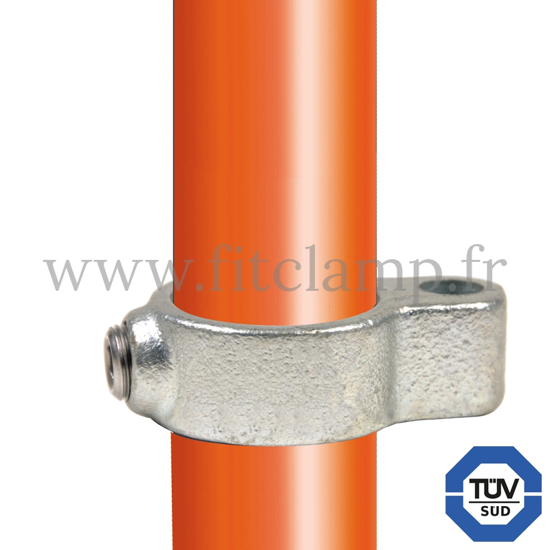 Tube clamp fitting 138 for tubular structures: Gate eye. Easy to install. FitClamp
