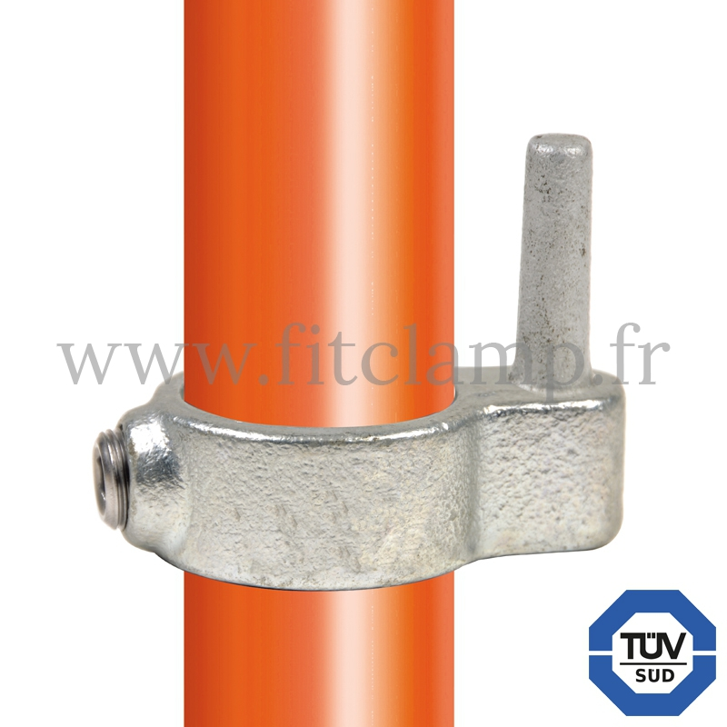 Conector tubular 140: Pasador puerta macho para montaje tubular. Con doble protección de galvanizado
