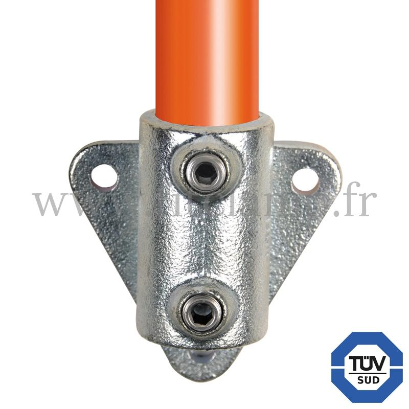 Rohrverbinder 146: Wandhalter Dreieckflansch für Rohrkonstruktion. FitClamp.