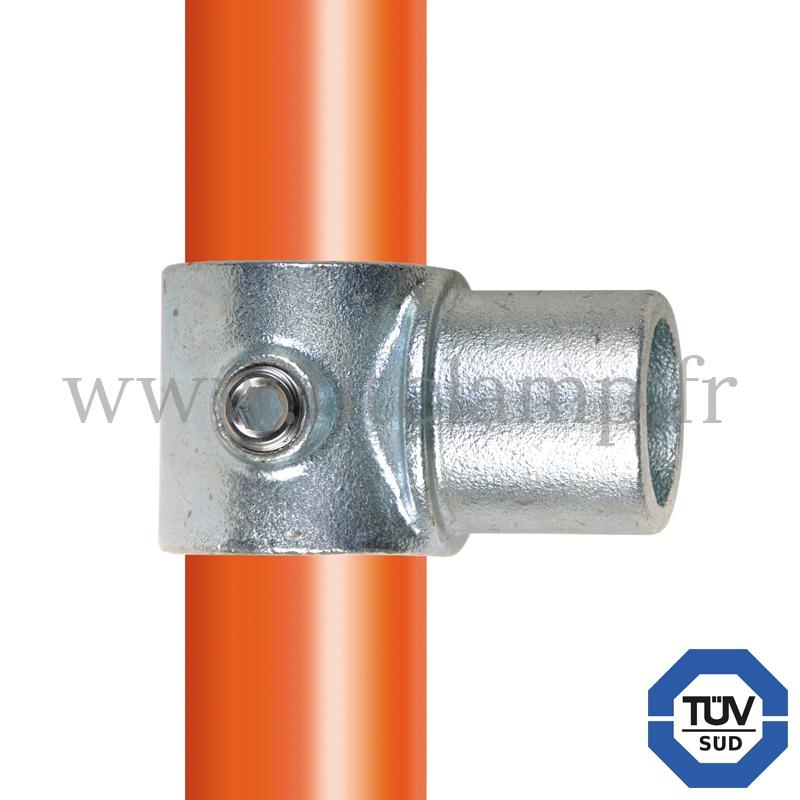 Rohrverbinder 147: Internes T-Drehstück für Rohrkonstruktion. FitClamp.