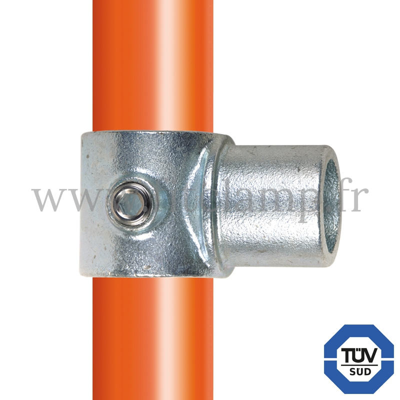 T court embout mâle - Raccord tubulaire FitClamp