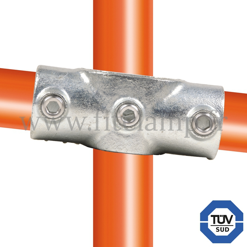 Tube clamp fitting 156 for tubular structures: Degree cross 0-11°. With double galvanized protection. FitClamp