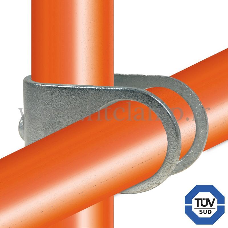Conector tubular 160: Cruz girada tipo U para montaje tubular