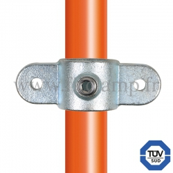 Tube clamp fitting 167M for tubular structures: Double male inline swivel. FitClamp
