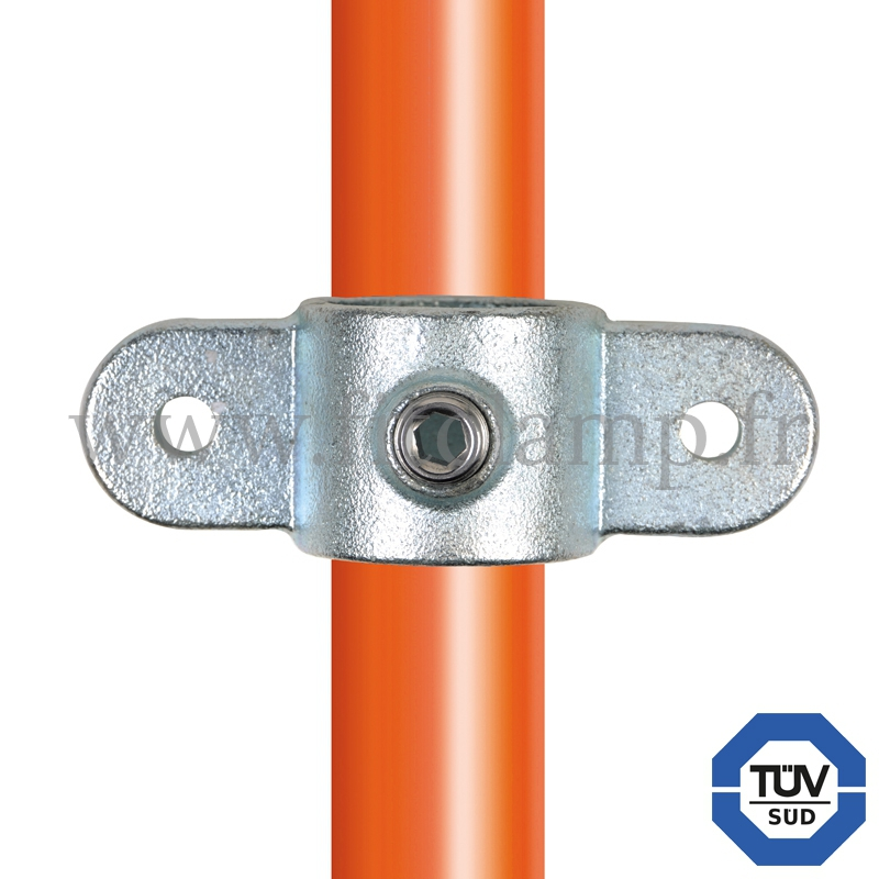 Rohrverbinder 167M: Gelenkauge doppelt für Rohrkonstruktion. Fitclamp.