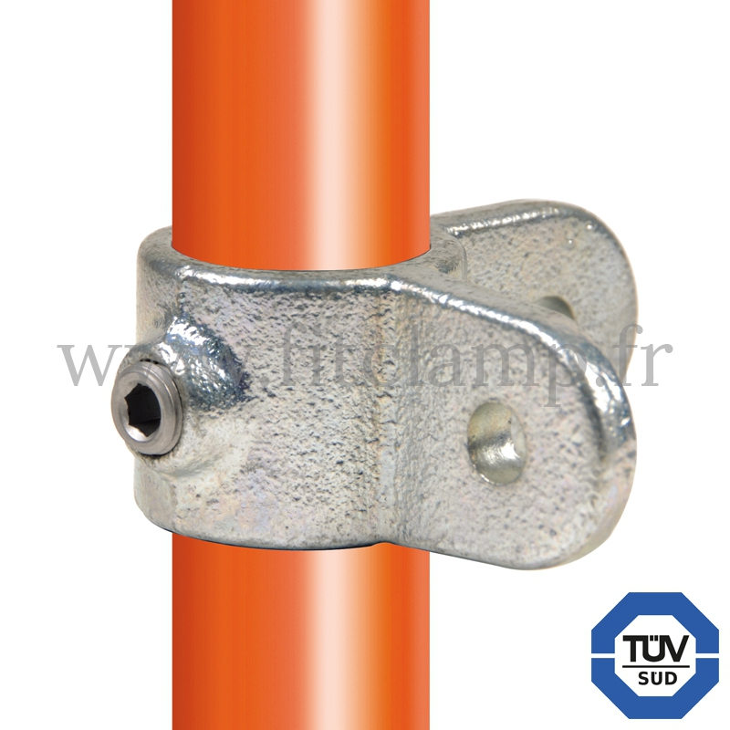 Tube clamp fitting 168M for tubular structures: male corner swivel 90°. FitClamp