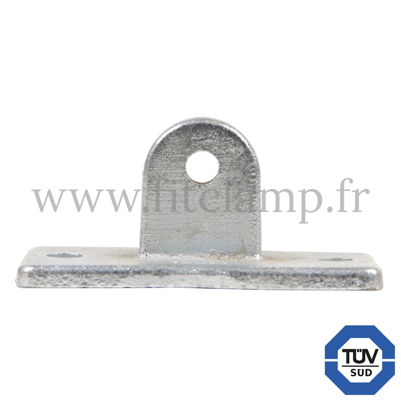 Tube clamp fitting 169M. Swivel base section for tubular structures with double galvanised protection. Fitclamp