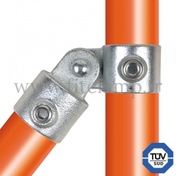 Tube clamp fitting 173: Single swivel for tubular structures. With double galvanised protection