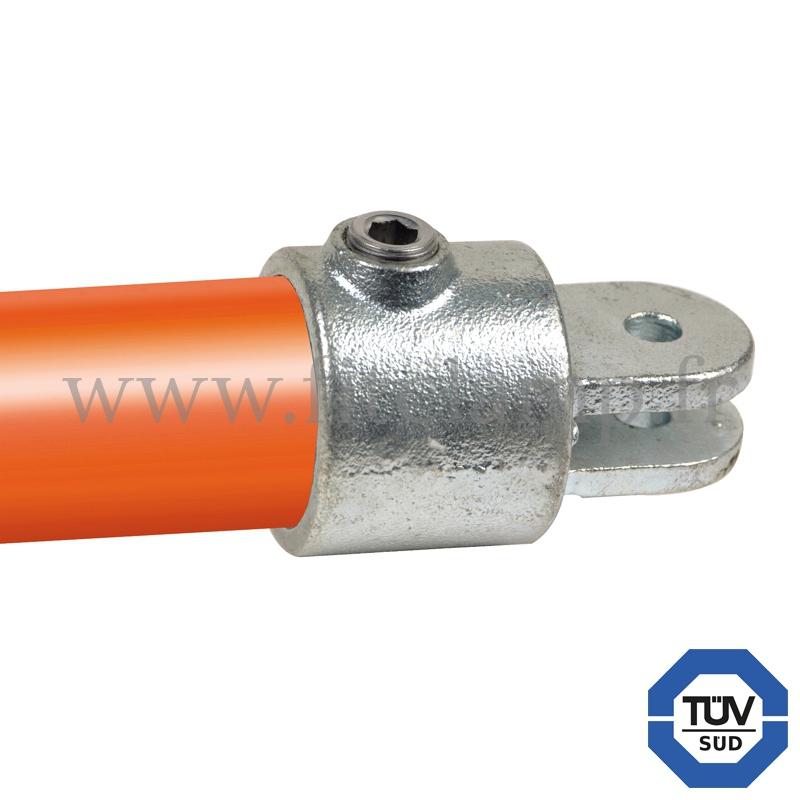 Conector tubular 173F: T corto giratorio pieza hembra para montaje tubular. Se montan con una simple llave Allen.