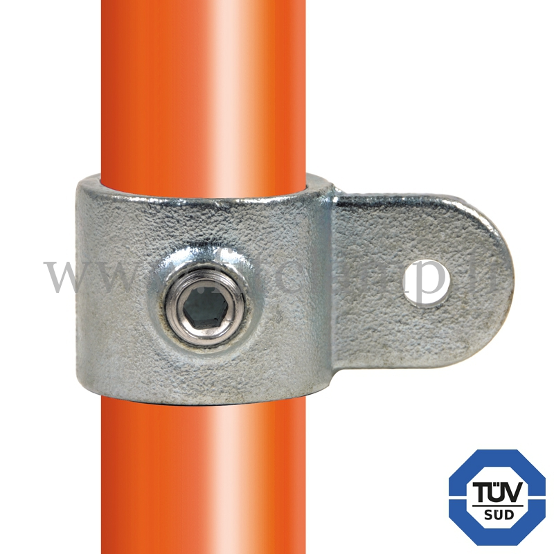 Tube clamp fitting 173M: Single male swivel for tubular structures. With double galvanised protection. FitClamp