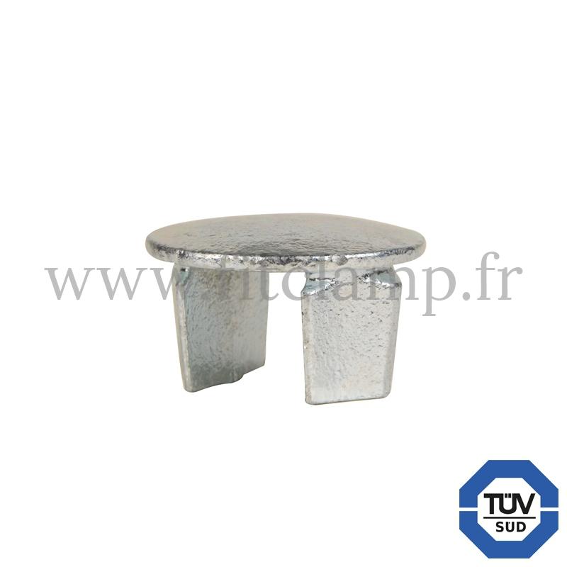Rohrverbinder 184: Abschlusskappe für Stahlrohr für Rohrkonstruktion. FitClamp.