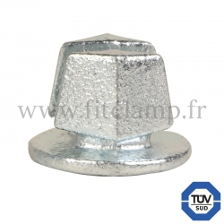 Tube clamp fitting 184: Steel tube plug for tubular structures. With double galvanised protection.