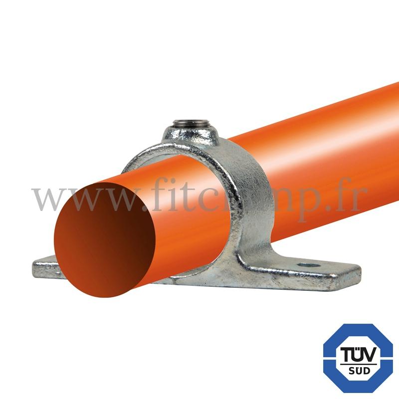 Rohrverbinder 198: Befestigungsring mit Flansch 2 Bohrungen für Rohrkonstruktion. FitClamp.